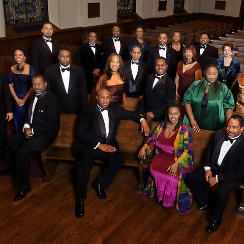 photo of American Spiritual Ensemble in church pews