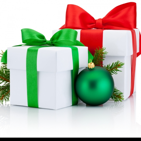 photo of wrapped Christmas gifts