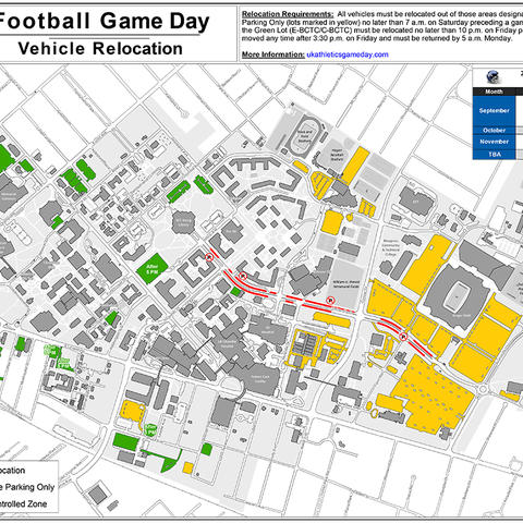 map of football parking