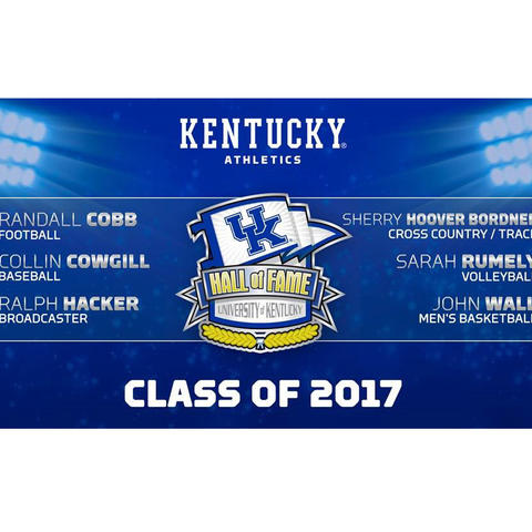 UK Athletics Hall of Fame banner - Class of 2017