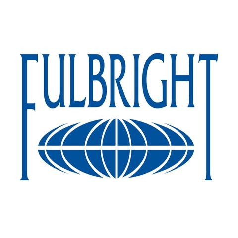 photo of blue Fulbright logo