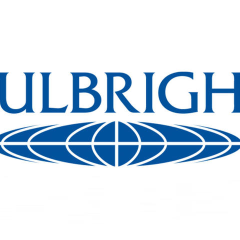photo of blue Fulbright logo