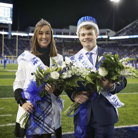 UK Homecoming Queen Maggie Davis and King Jonathan Thomas