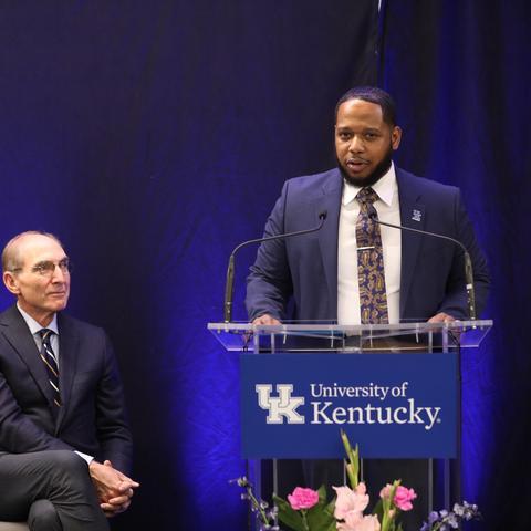 Photo of Jason Brooks at MLK Center dedication