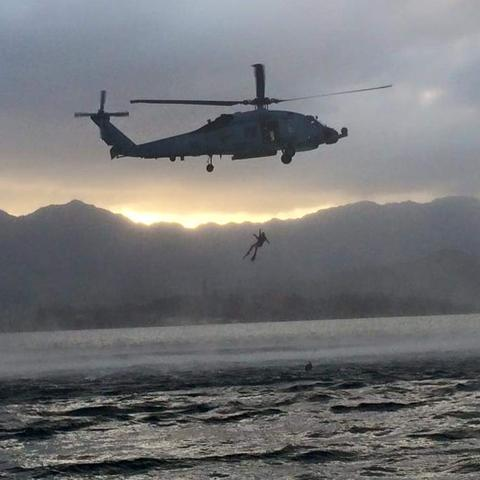 Zach Grills, a UK freshman, served as an aviation rescue swimmer in the U.S. Navy