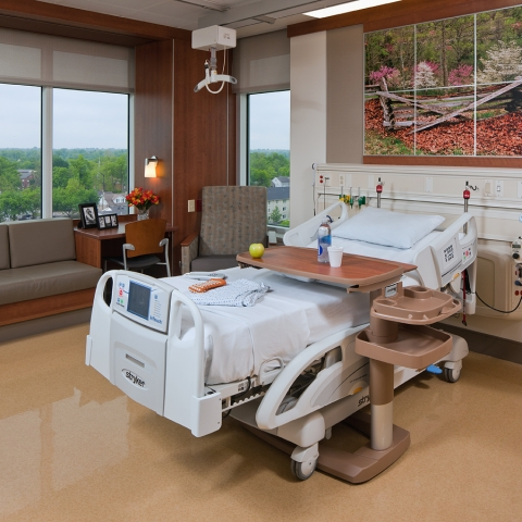 photo of patient room at UK HealthCare Cardiovascular Unit in Pavilion A