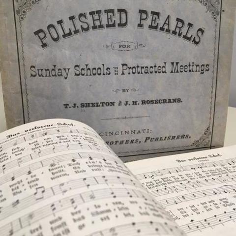 "photo of ""Polished Pearls"" music book"