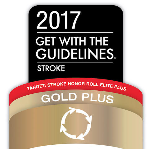 The AHA Stroke Gold Plus logo