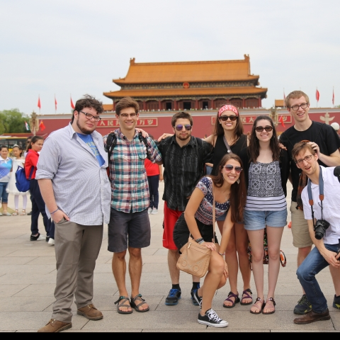 photo of UK students in China on Confucius Institute trip