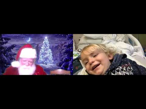 Thumbnail of video for Santa Zooms into Kentucky Children's Hospital for Virtual Visits
