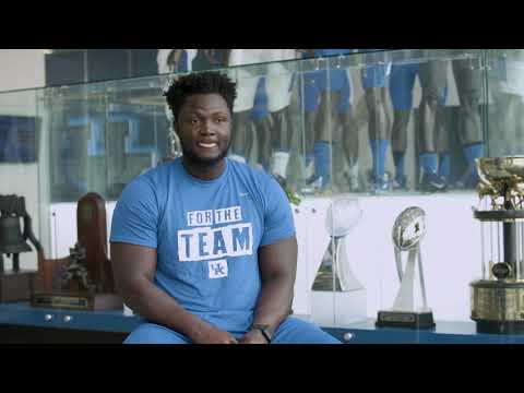 Thumbnail of video for UK Football's Abadi-Fitzgerald Finds Community in the Big Blue Nation