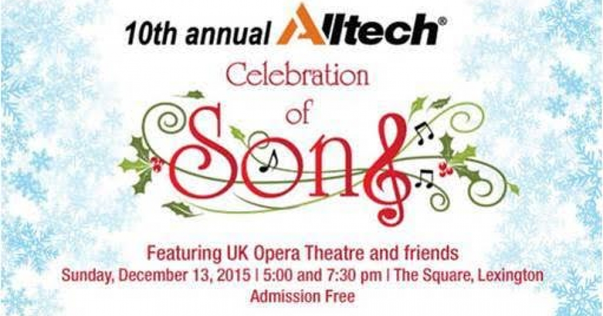 Invite Holiday Guests to Sing Along With UK Opera, Alltech's