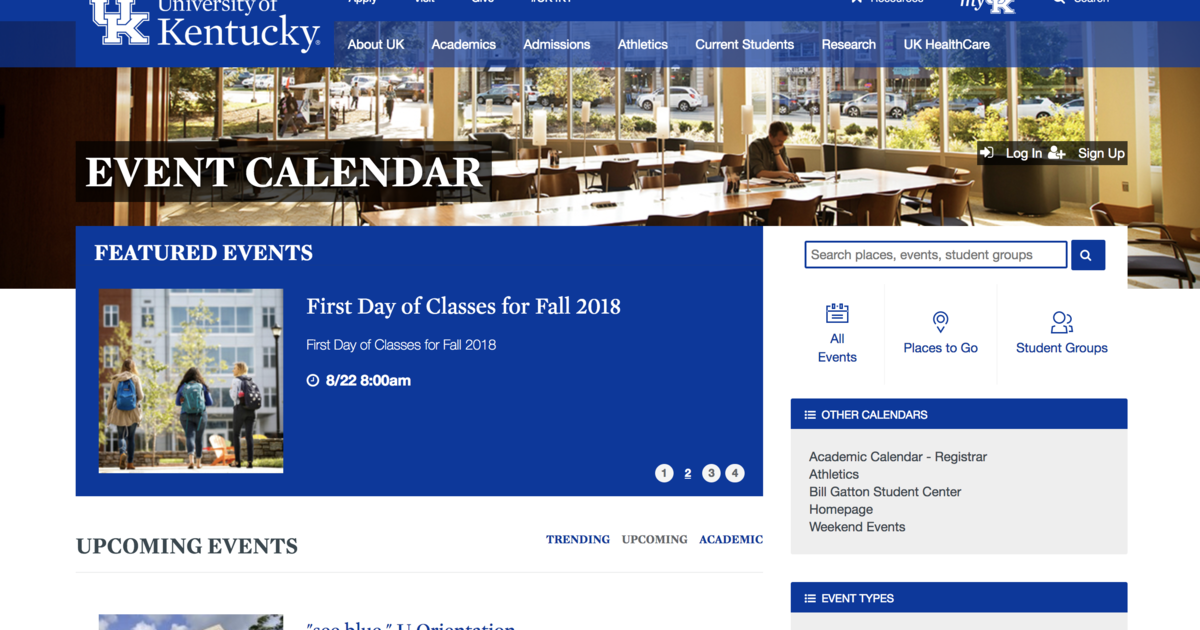 New Campus Calendar Helps You Discover What to Do, Where to Go at