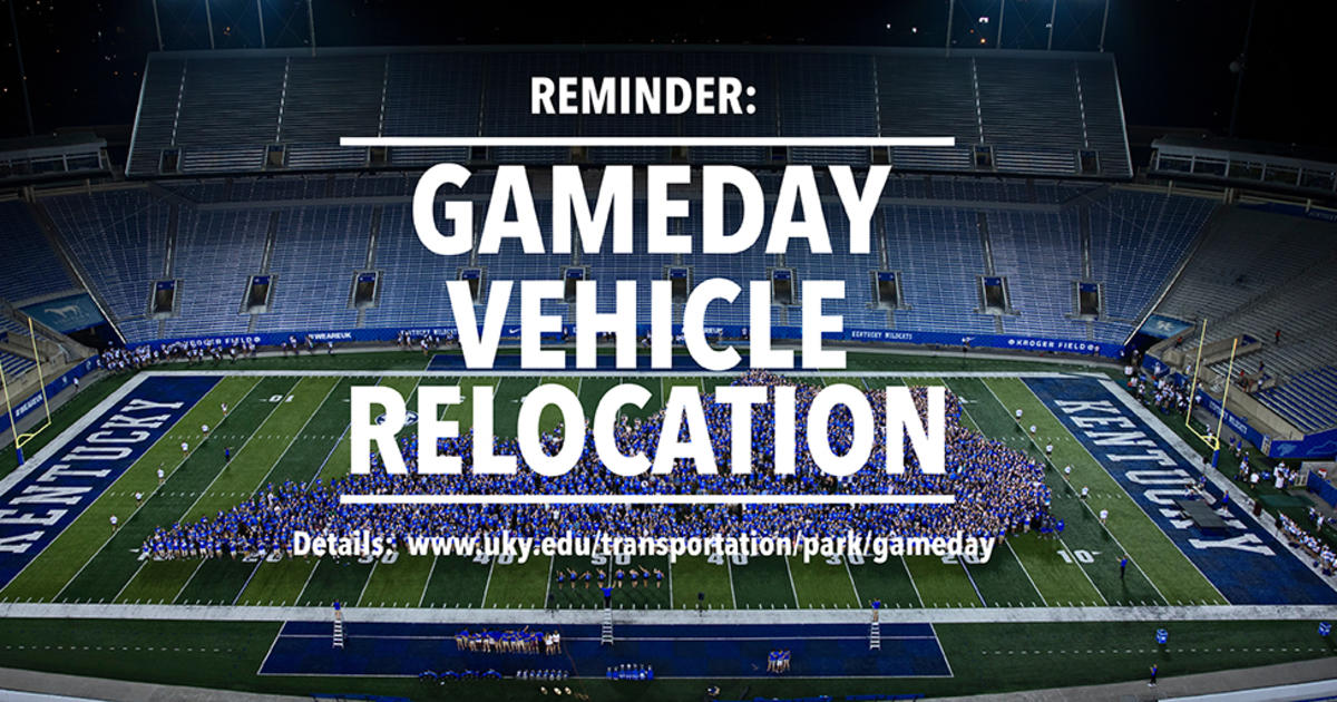 Vehicle Relocation Required For Home Football Games Uknow