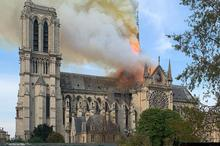 photo of Notre Dame fire
