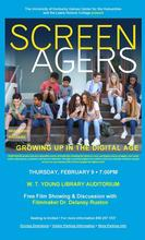 "photo of poster for Bale Boone presentation of ""Screenagers"""