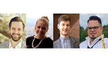photos of Cameron Weatherford, Amy Hoagland, Jonathan Barrett and Ian Cruz
