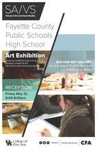 photo of Fayette County Public Schools High School Art Exhibit poster