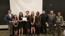 photo of members of UK Graduate Student Congress with award