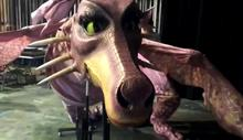 photo of dragon from UK Theatre's Shrek