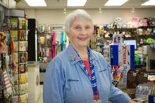 Photo of Janice Boyd in the hospital gift shop