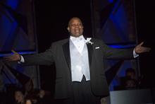 "photo of Everett McCorvey singing in ""Grand Night"" 2017"