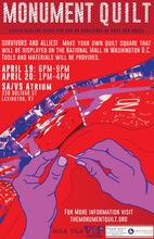 photo of UK's Monument Quilt event poster