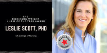 Leslie Scott, winner of the 2018 Dickinson Wright Nurse of the Year