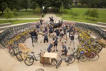 Bicycle's around Bowman.