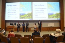 Photo of students presenting at previous Global Health Case Competition