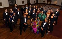 photo of American Spiritual Ensemble in church pews
