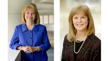 headshots of Janie Heath and Gwen Moreland