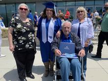 photo of Alethea Devary (2nd from left) with mom, grandfather and aunt