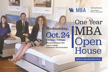photo of web ad for One Year MBA Open House - Oct. 24, 2018