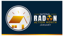 graphic for national radon action month