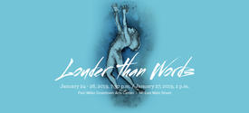 """photo of web banner for """"Louder than Words"""""""