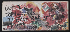 photo of Blaster Al Ackerman mail art to John Evans