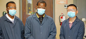 Members of the Power Generation team at UK CAER include (left to right) Emmanuel Ohiomoba, Ayokunle Omosebi and Xin Gao.