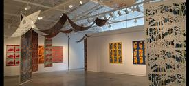 """photo of """"In Transition"""" by Sang-Mi Yoo in """"Integral"""" exhibit at Bolivar"""