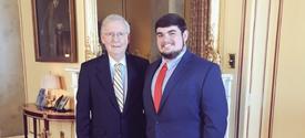 Senator Mitch McConnell and Jared Sexton