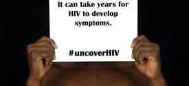 """photo from """"#UncoverHIV"""" exhibit"""