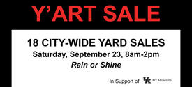 photo of Y'Art Sale sign