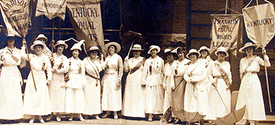 black and white photo of Kentucky suffragists