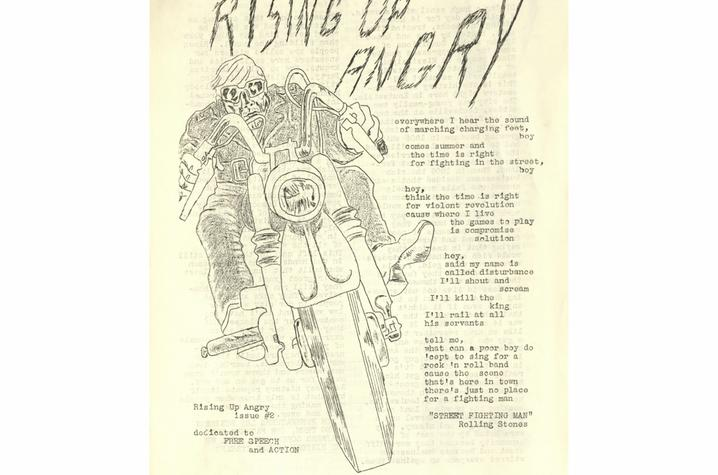 "photo of ""Rising Up Angry"" flier"