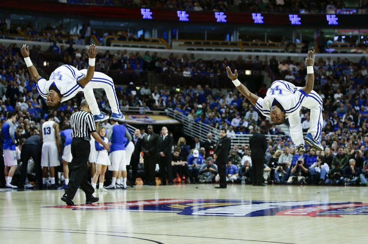 This is a photo of John and Josh Marsh, from when they both were UK Cheerleaders.