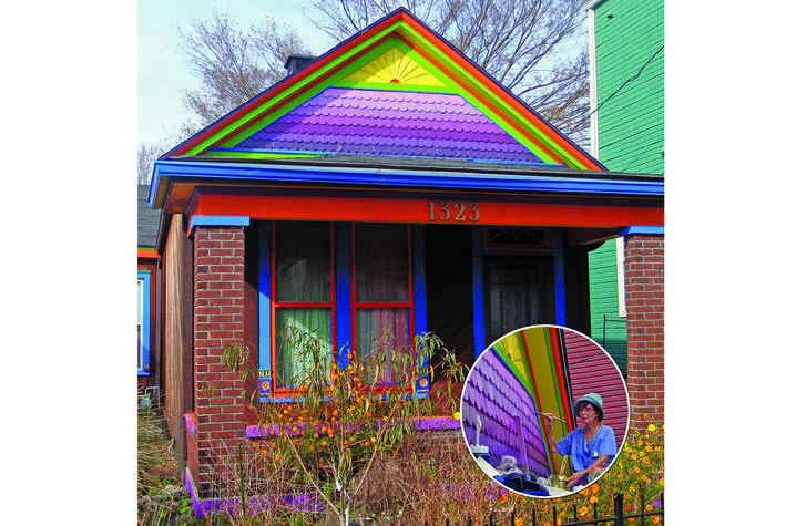 "photo of ""rainbow"" home in Louisville from ""Chromatic Homes"""