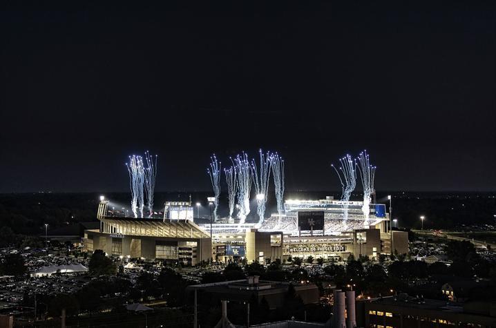 photo of Kroger Field at night