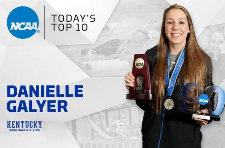 photo of web banner of Danielle Galyer - NCAA Top 10 Honor