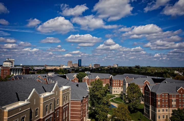 photo of campus and Lexington