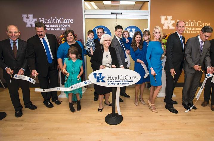 Photo of ribbon cutting for Barnstable Brown Diabetes Center